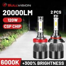 20000lm Led Light H11 dla Auto 9005 HB3 Ice żarówka 9006 HB4 lampa samochodowa H8 H9 światło przeciwmgielne Super Bright Turbo reflektory 120W Csp 12V