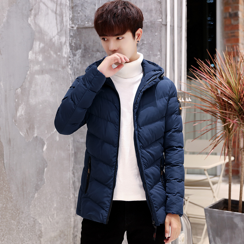 2019 New Winter Jackets   Parka   Men Solid Autumn Warm Outwear Brand Slim Long Coats Mens Casual Windbreaker Men Overcoat Jackets