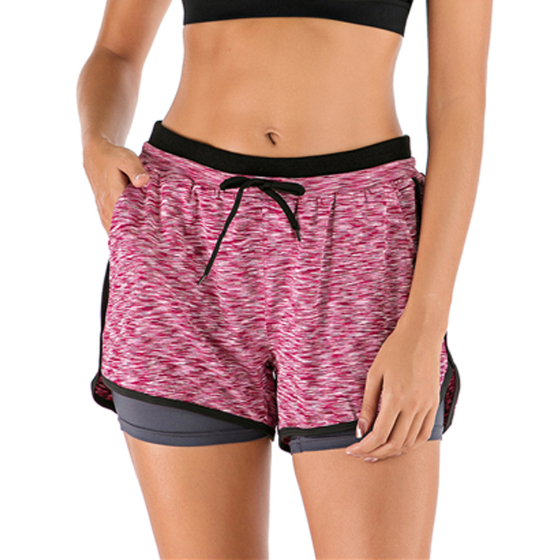 Sports Shorts Women Fitness Running Workout Short 2-in-1 Leggins For Female Gym Sport Shorts Activewear Exercise Jogging Shorts