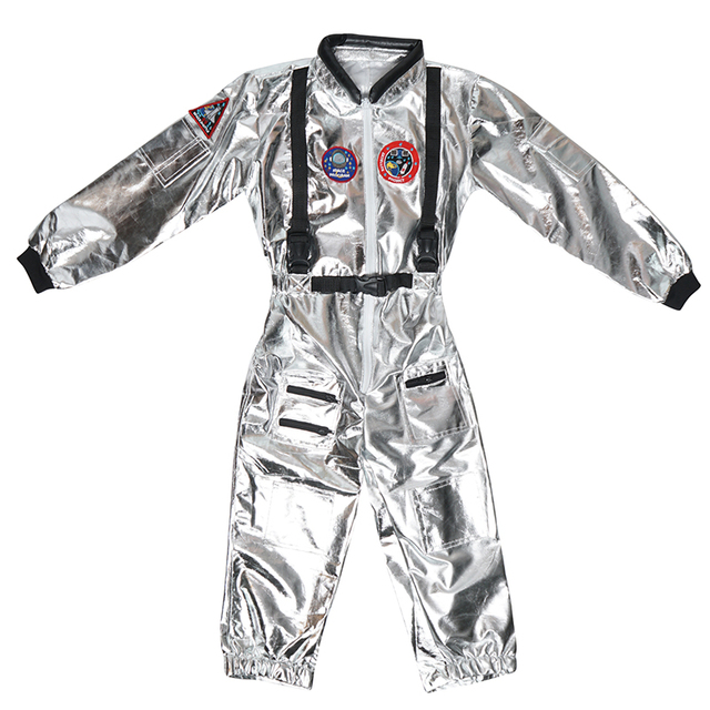 SNAILIFY-Silver-Spaceman-Jumpsuit-Boys-Astronaut-Costume-For-Kids-Halloween-Cosplay-Children-Pilot-Carnival-Party-Fancy