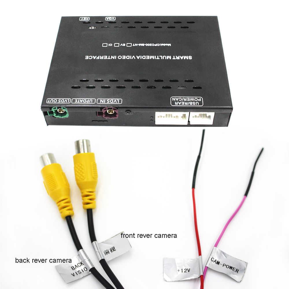 Cofania interfejs kamery moduł dla BMW serii 1 z systemem NBT 6.5 ''ekran z Carplay tworzenie kopii lustrzanych cyfrowy samochód 12v tuner tv