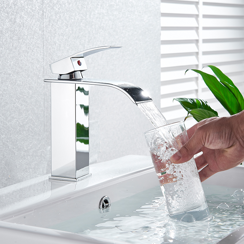 H27286d2970fa47eea46112055d37828ei Rozin Hot cold basin faucet Waterfall Bathroom Vanity Sink Faucet Single Lever Chrome Brass Hot and cold Basin Washing Taps