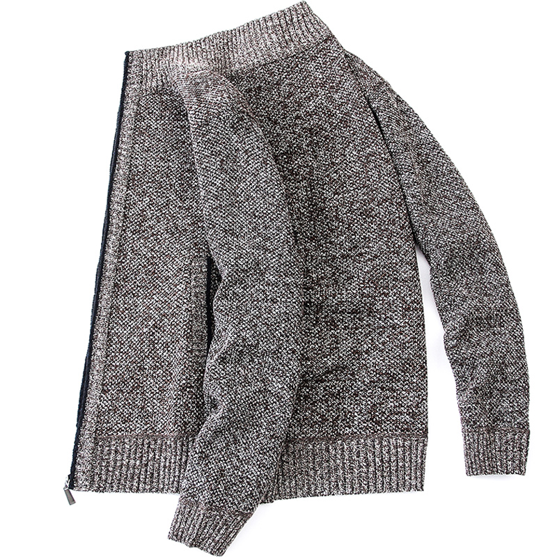 Cardigan Men Thick Warm Sweatercoat FashionSweater Cardigan Men Slim Fit Jumpers Knitred Winter Casual Sweater Mens Clothes 3