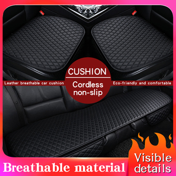 Universal Auto Car Seat Covers Protector Pad Mat Breathable PU Leather Car Front Rear Back Seat Cover Auto Seat Cushion 4 Colors auto seat cushion leather seat cover car seat protector cushion seat car front seats covers luxury car seat cape 5 seats