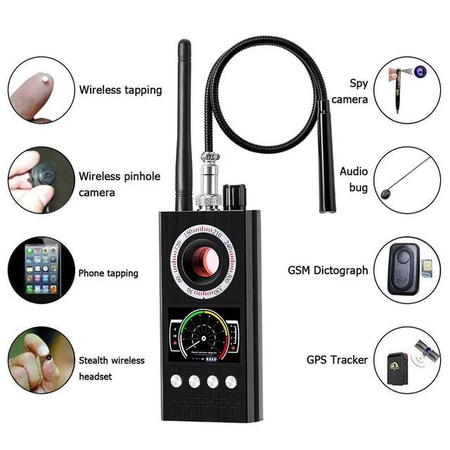 Anti Spy Wireless RF Signal Detector Bug GSM GPS Tracker Hidden Camera Eavesdropping Device Military Professional Version K68