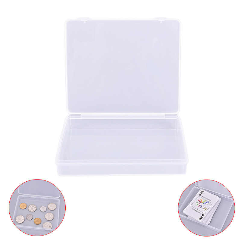 Transparante plastic dozen speelkaarten container PP storage case verpakking poker game card box voor poken 11.6cm x 9.7cm x 2cm