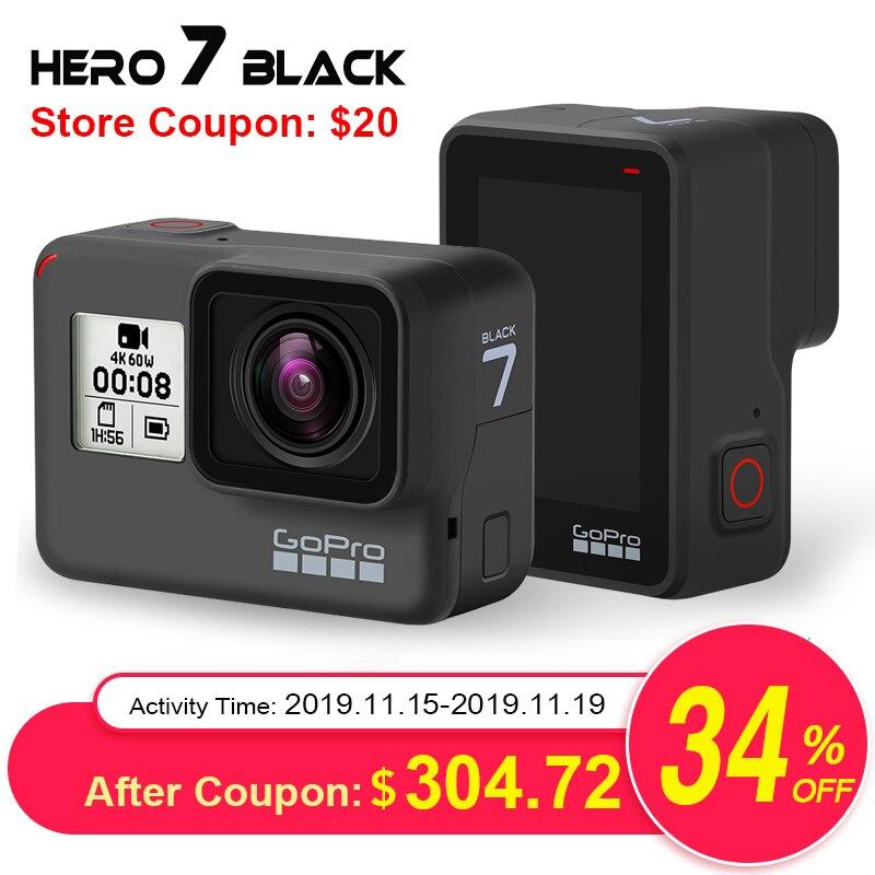Gopro hero7 preto câmera de ação à prova dwaterproof água com tela de toque esportes cam ir pro herói 7 12mp fotos streaming ao vivo estabilização