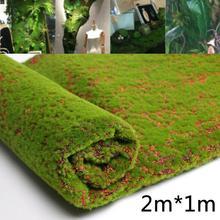 Coffee Artificial Moss Fake Green Plants Grass for Shop Patio Wall home garden Decor DIY 1M*2M Moss