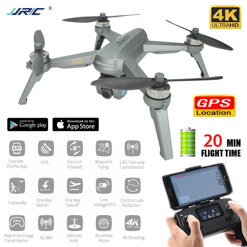 JJRC X5P 4K Drone Gps Professional Rc Quadcopter 5G Follow Me WiFi Fpv Selfie Brushless Quadrocopter Adjustable HD Camera Drone image
