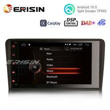 """Erisin ES4283A 8 """"アンドロイド10.0カーステレオアウディA3 S3 dab + dsp carplay gps 4グラムラジオwifi"""