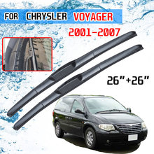 For Chrysler Voyager 2001 2002 2003 2004 2005 2006 2007 Accessories Car Front Windscreen Wiper Blades Brushes Cutter U J Hook