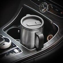12 в 500 мл портативный чайник для путешествий, кофейная кружка, электрическая нержавеющая сталь, кабель прикуривателя, автомобильный чайник для согреться с водой
