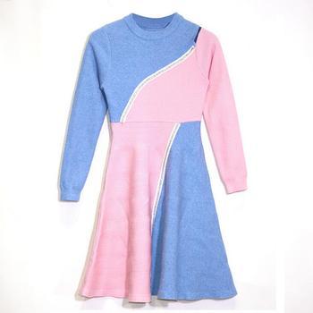 Neue angekommene mode damen bunte kleider 1-7 schöne frauen kleid