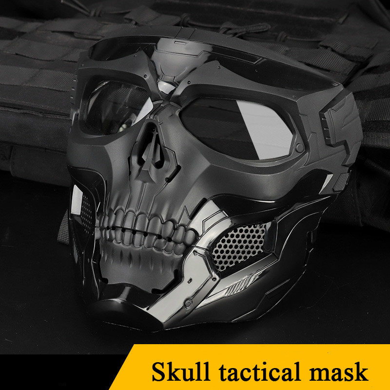 Paintball Tactical Skull Mask Breathable Shooting Hunting Men Full Face Airsoft Halloween Mask Military Skull Masks