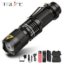 Super bright Mini LED Flashlight Zoom T6 Led Lamp Bead Torch 5 Mode Ca