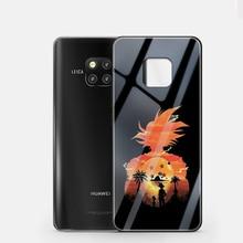 ciciber Dragon Ball Coque For Huawei P20 P30 Mate 20 Lite Pro Tempered Glass Phone Cases for Honor 10 Cover Fundas Capa