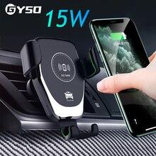 GYSO – chargeur de voiture sans fil Intelligent, pour iPhone 12 11 Pro X XR XS MAX 8 15W