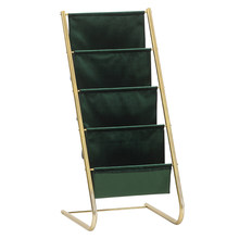 Einfache metall flanell magazin rack kinder eisen kleine bücherregal boden licht luxus display rack verdickung material organizer(China)