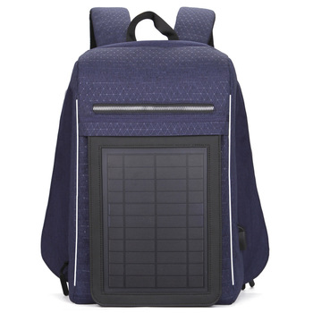 15.6' Laptop Solar Backpack Large IPad Bag USB Charging Business Backpacks Traveling Daypack Anti Theft Backpack 3