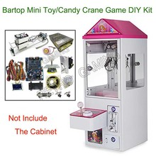 Mini zabawka dźwignia do wyciągania automat do gier DIY zestaw z płytą główną 25.7cm Gantry zasilanie Joystick przyciski LED wrzutnik do monet