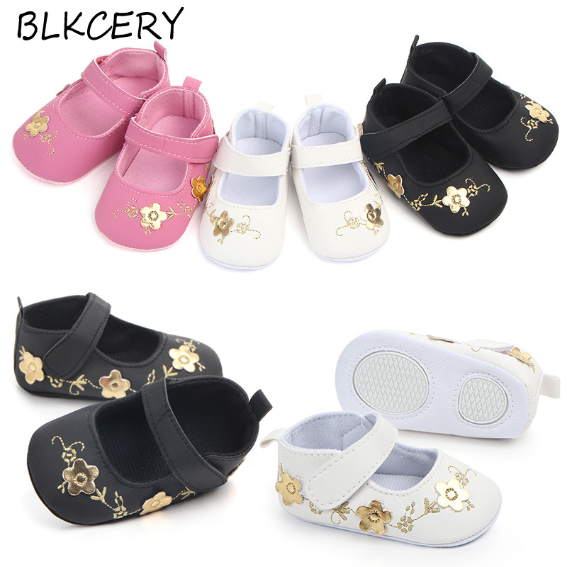 Fashion Baby Girls Crib Shoes Newborn First Steps Toddler Flowers Loafers Infant Tenis for 1 Year Old Footwear Doll Shoes Gift