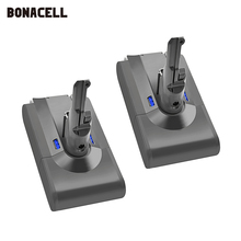 Bonacell Batería de ion de litio V8 para aspiradora Dyson V8, batería recargable de 4000mAh y 21,6 V para aspiradora Dyson V8 Absolute V8, modelo L70
