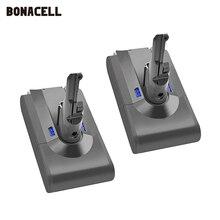 Bonacell V8 4000 2600mah の 21.6 v ダイソン V8 バッテリー絶対 V8 動物リチウムイオン SV10 掃除機充電式バッテリー l70