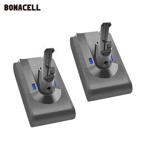 Image 1 - Bonacell V8 4000mAh 21.6 فولت بطارية ل دايسون V8 بطارية المطلق V8 الحيوان ليثيوم أيون SV10 مكنسة كهربائية بطارية قابلة للشحن L70