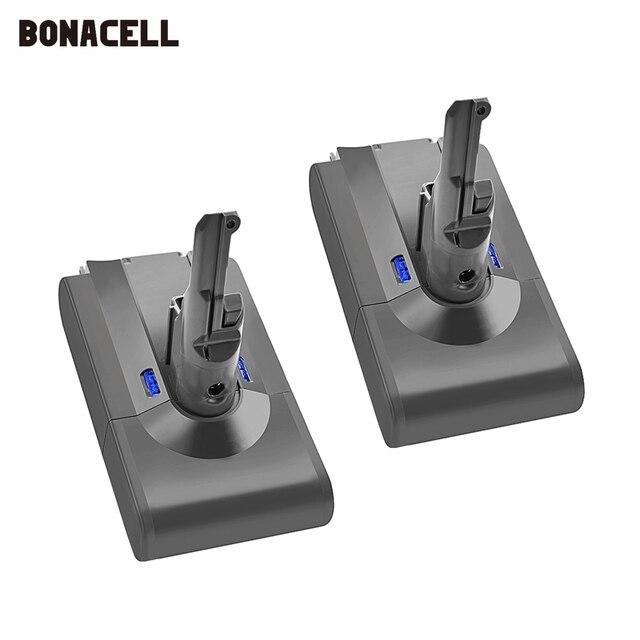 Bonacell V8 4000mAh 21.6 فولت بطارية ل دايسون V8 بطارية المطلق V8 الحيوان ليثيوم أيون SV10 مكنسة كهربائية بطارية قابلة للشحن L70