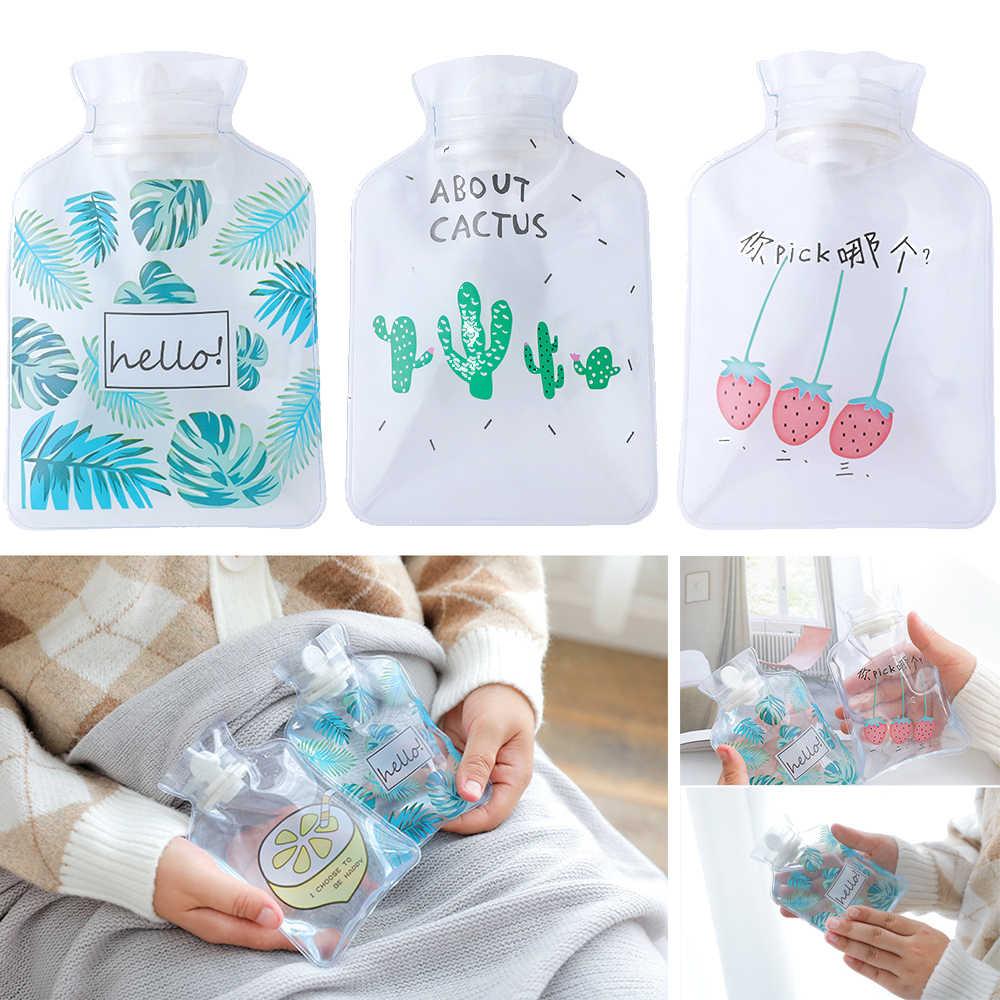Alta qualidade dos desenhos animados mão quente garrafa de água quente mini garrafas de água quente portátil mão mais quente meninas bolso pés mão saco de água quente