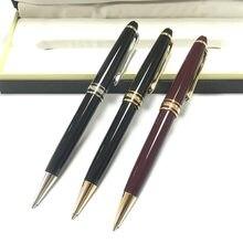 Novo quente classique mon caneta esferográfica 163 rolo caneta caneta caneta fonte blanc prata clipe de ouro