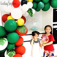 Merry Christmas Balloons White Red and Green Garland Party Kit For Birthday New Year Decoration 130pcs