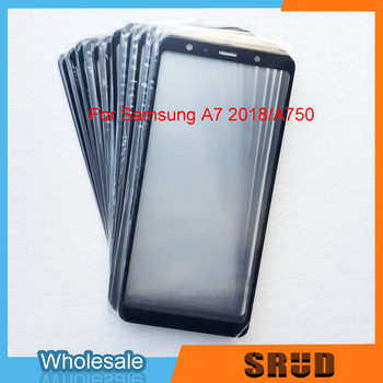 50Pcs LCD Front Outer Glass Panel With Laminated OCA Glass Replacement For Samsung Galaxy A7 2018 A750 A750F A750FN A750G