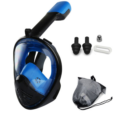 Curved Swimming Snorkeling Mask Adult Full-dry Diving Mirror Is Attached To Face Anti-shattering And Anti-fog Diving Mask