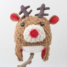 Baby Hat Christmas New Year Winter Warm Wapiti Wool Cap Baby Girl Cute Stuff Things for a Newborn Boy Kids Lovely Hat 2019 New