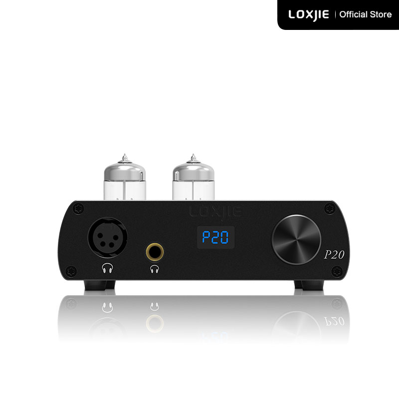 LOXJIE P20 Full Balance Tube Headphone Power Amplifier Use The Military Grade 6N3 Tube Powerful Hi-End Volume Control NJW1195