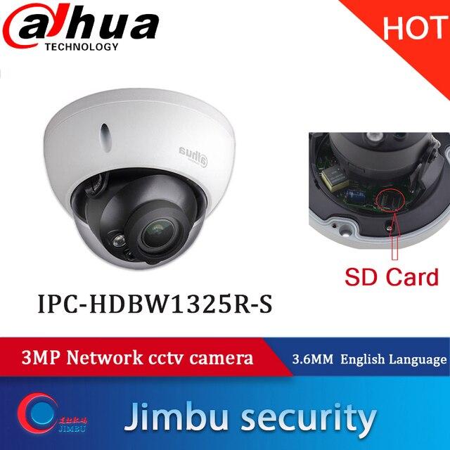 Dahua caméra de Surveillance intérieure IP 3MP/IPC HDBW1325R S, H.264, système ONVIF, 1080p et système infrarouge 30m, carte SD