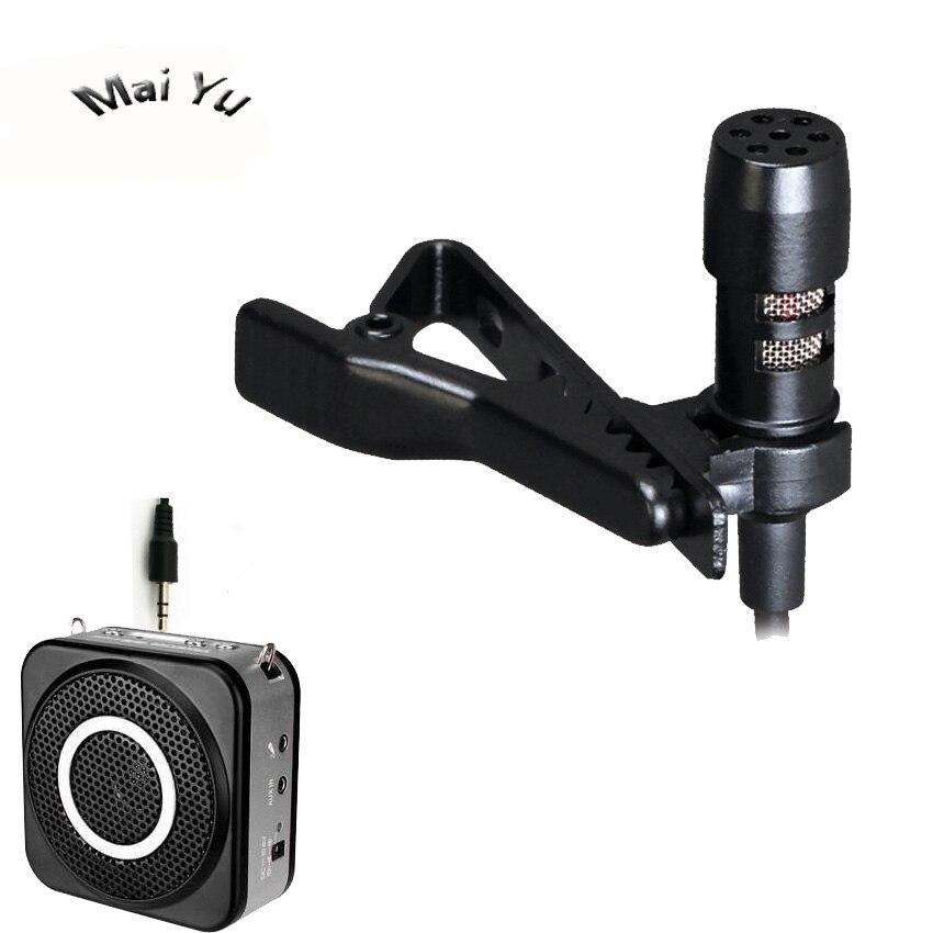Original Mini Lapel Teacher Recording Amplifier Microphone Condenser Speaker Microfone With 3.5mm Stereo Jack For Computer