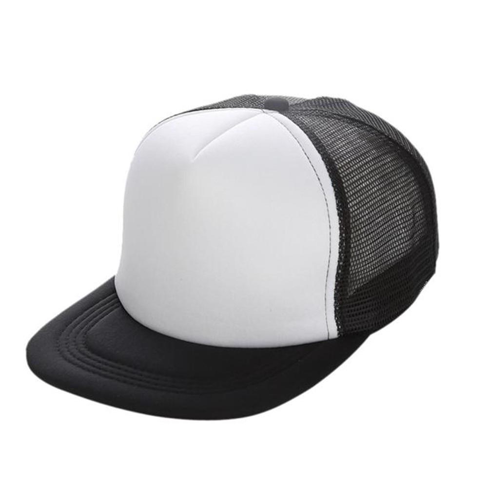 Baseball Cap Parent-Child Women Men Solid Snapback Caps Female Casual Hat Trucker Mesh Blank Visor Child Baseball Hat@2/_Adult Size 56-60Cm