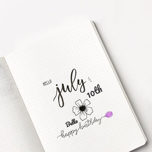 Image 5 - Dot Grid Simple Hand Book Bullet Notebook Diary Dotted Journal Bujo
