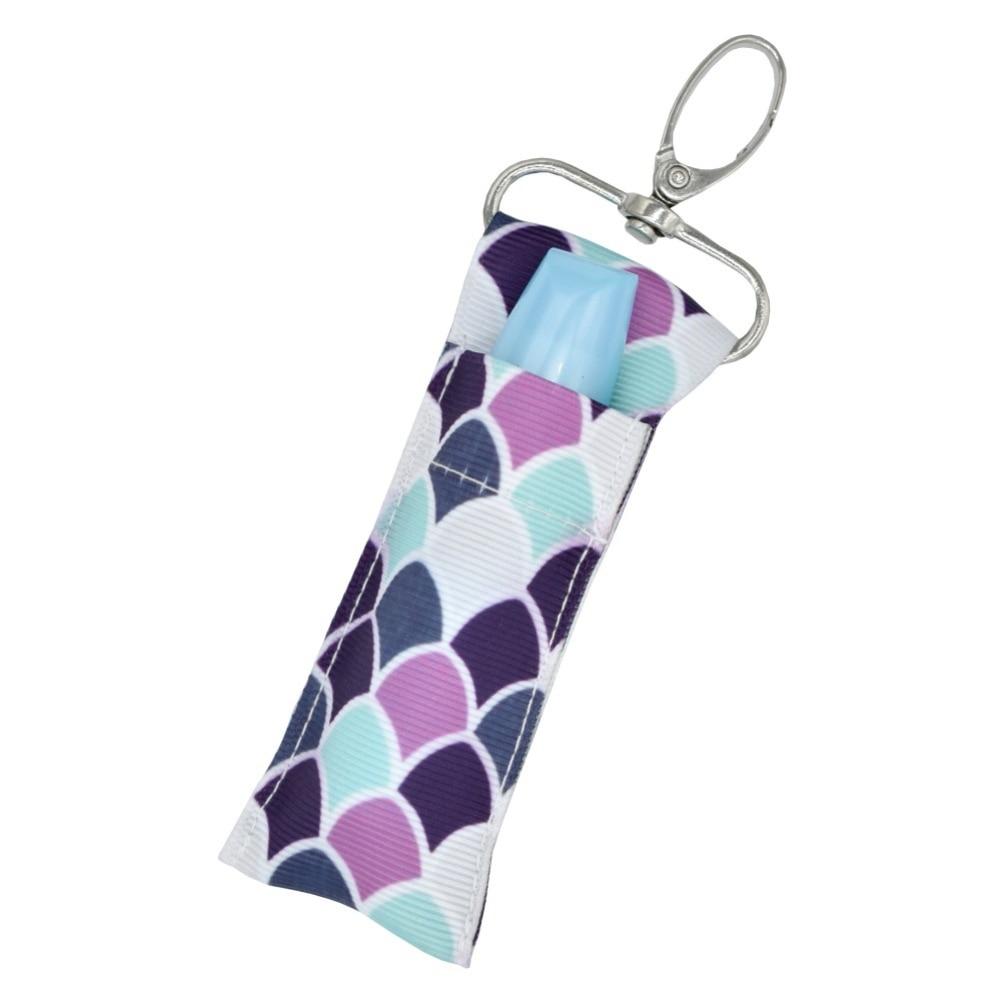 Cosmetic Storage Organizer Makeup Storage Bag Lip Balm Key Ring Storage Bag Lipstick Chapstick Keychain Gift Wristlet Bag Holder