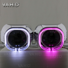CH24S 3.0inch crystal angel eye bixenon hid projector lens kit 350ma 35w with white blue red green yellow purple angel eye