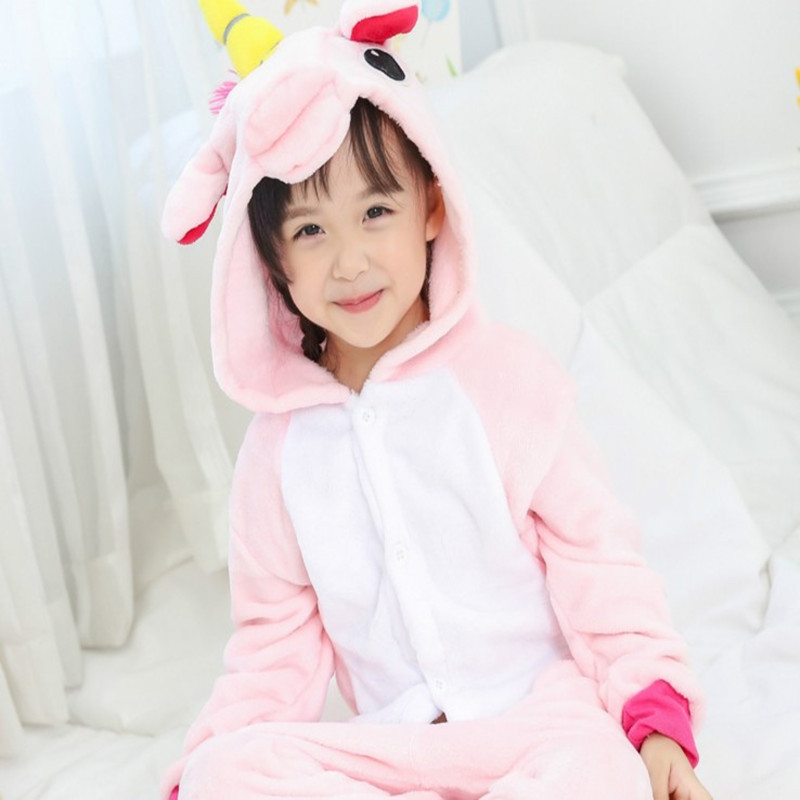 Autumn And Winter Flannel Children Cartoon One-piece Pajamas Tianma Men And Women Thick Couples Home Wear Star Tianma Long Sleev