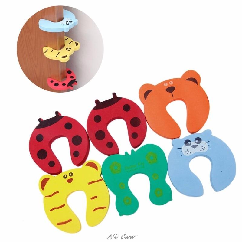 10pcs/lot Child Kids Baby Animal Cartoon Door Jammers Stop Stopper Holder Lock Safety Guard Finger