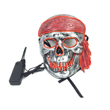 Hot sales EL Cold Light Mask LED Luminous with 3V Steady on Inverter for Halloween Party Supplies Christmas