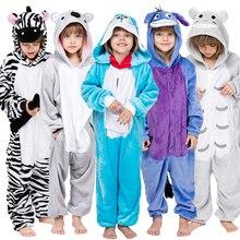 Кигуруми Новая Фланелевая пижама, Детская Пижама для девочки, комплект с Пикачу из стежка, Рождественская Пижама с капюшоном для костюмированной вечеринки, детская одежда для сна для мальчиков от 4 до 12 лет