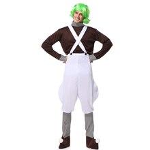 Charlie and the Chocolate Factory клоун косплей на Рождество и Хэллоуин костюм для мальчиков Мужские взрослые вечерние выступления на сцене