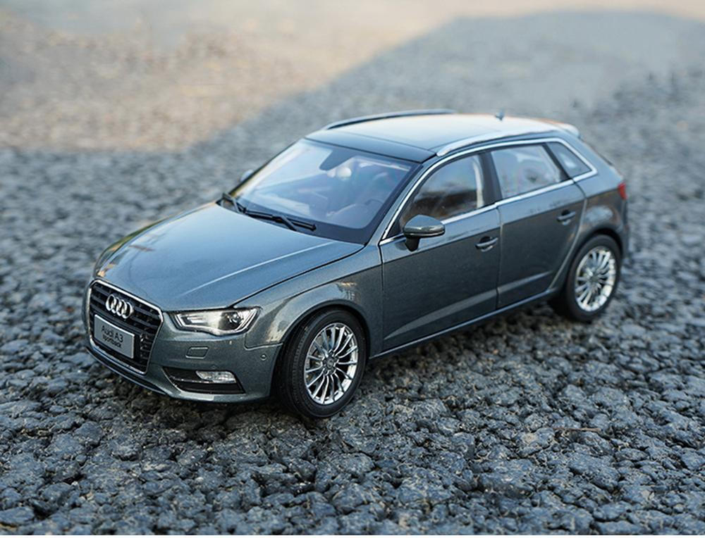 1/18 Scale <font><b>Audi</b></font> <font><b>A3</b></font> Sportback Gray DieCast <font><b>Car</b></font> Model <font><b>Toy</b></font> Collection Gift image