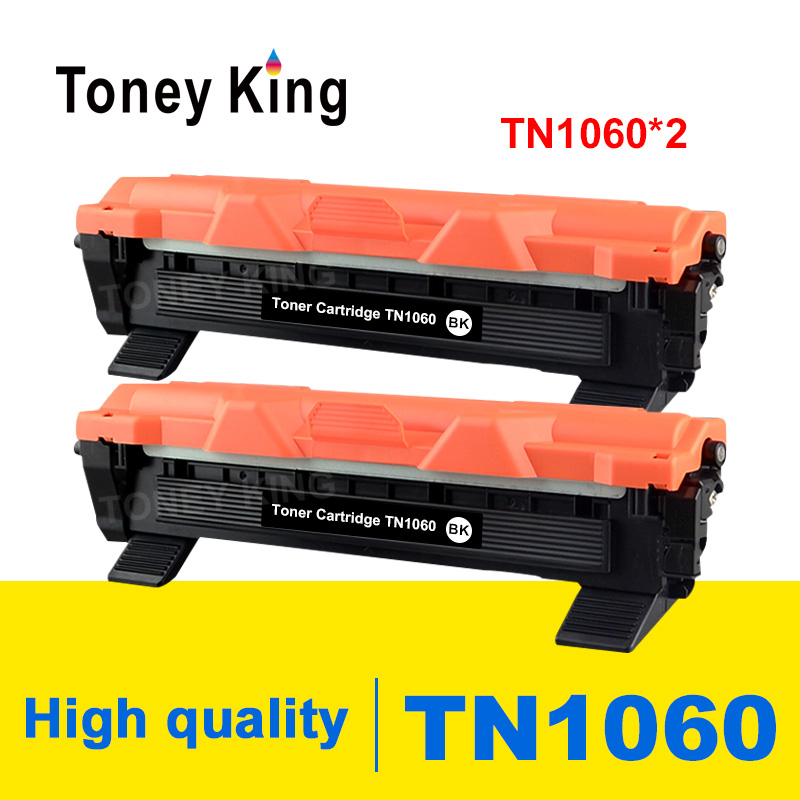 Toney King 2 PCS <font><b>Toner</b></font> Cartridge TN1060 TN 1060 Compatible for <font><b>Brother</b></font> <font><b>HL</b></font>-<font><b>1110</b></font> 1112 DCP-1510 1512R MFC-1810 Printer With Chip image