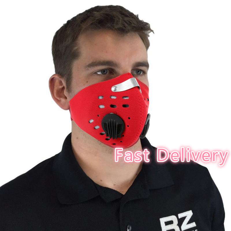 L 2020 Cotton PM2.5 3 Face Mask Anti Dust Mask Activated Carbon Windproof Mouth-muffle Face Shield  Respirator Mask Masque